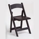 Black Padded Resin Chair
