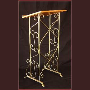 Guest Book Stand Brass With Wood Top Party Safari Ohio